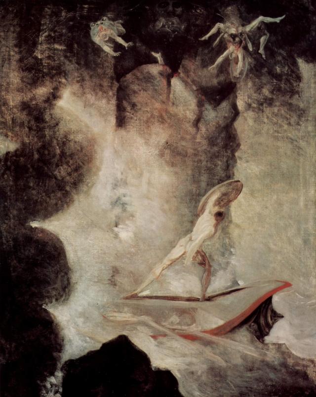 Генрих Фюссли. Одиссей проплывает под Сциллой. 1796