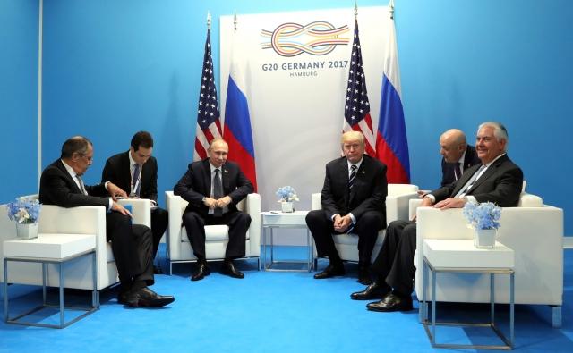 Владимир Путин и Дональд Трамп на большой двадцатке