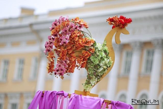 Цветочный петух