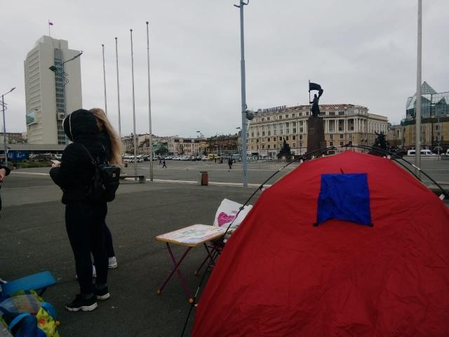 На центральной площади Владивостока акция протеста
