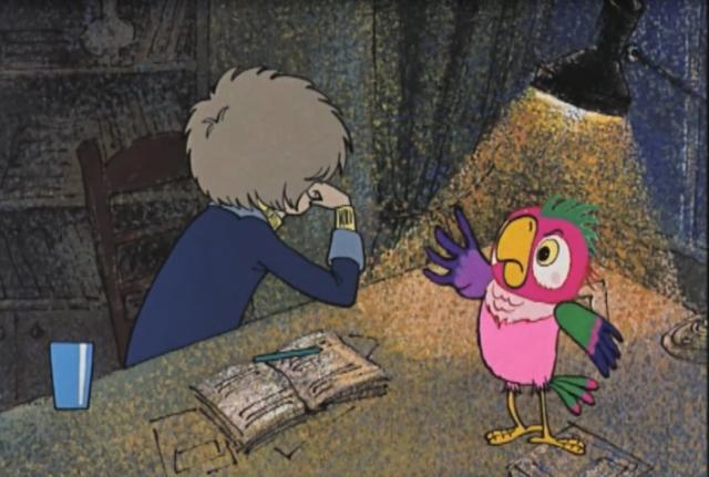 Попугай Кеша в новых мультфильмах будет говорить голосом Хазанова