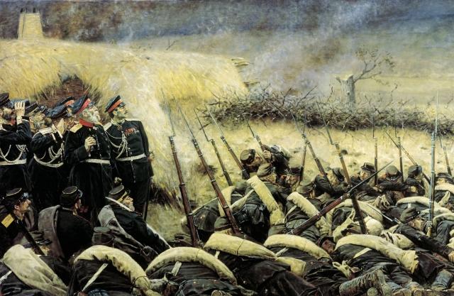 Василий Верещагин. Перед атакой. Под Плевной (фрагмент). 1881