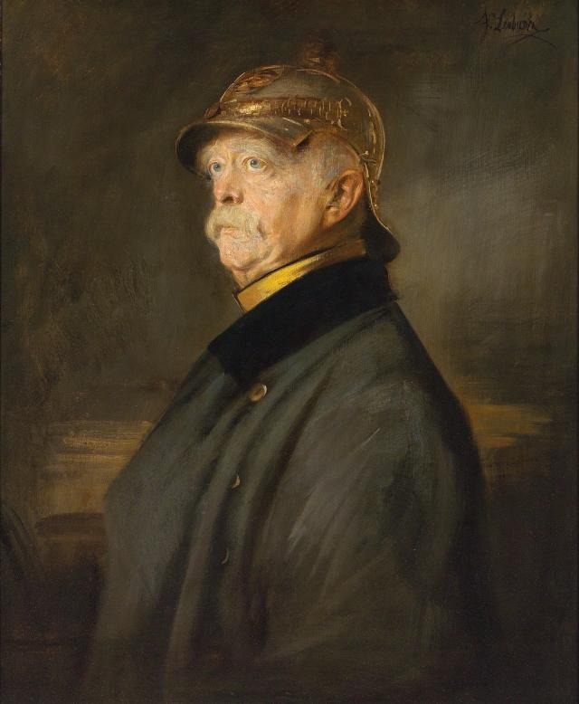 Франц фон Ленбах. Портрет Отто фон Бисмарка. 1870