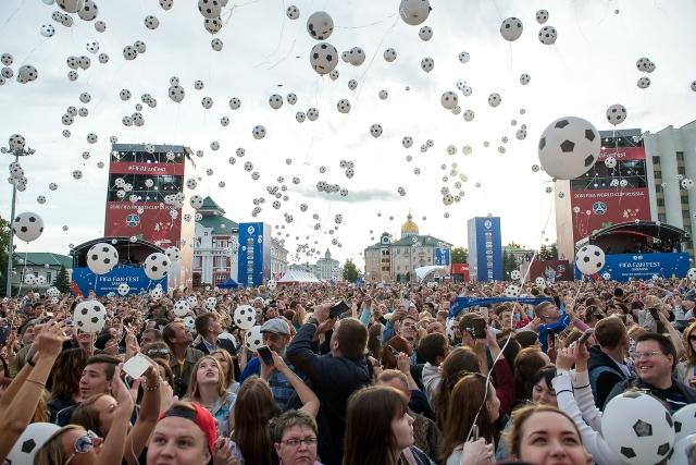 Открытие фестиваля болельщиков FIFA в Саранске посетили 40 тыс. человек
