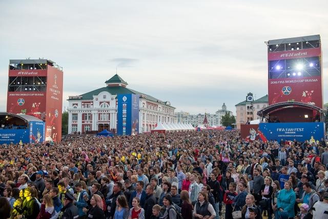Пиковая загрузка фан-зоны составила 19,5 тыс. человек