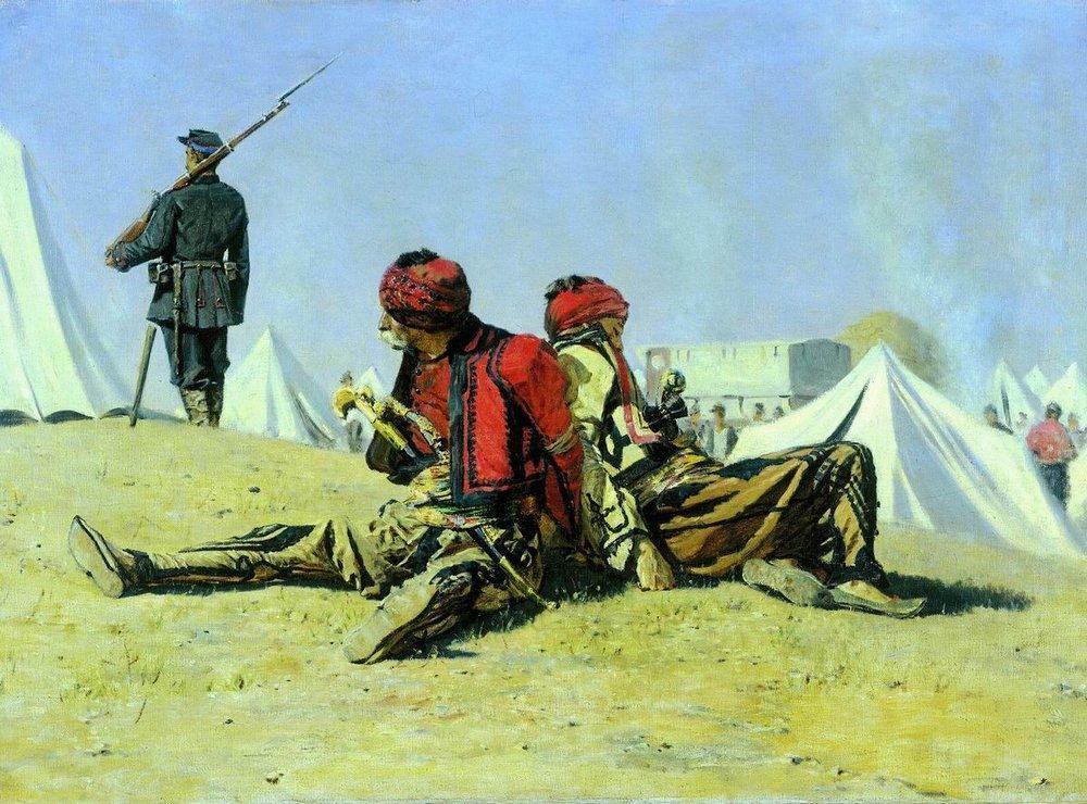 Василий Верещагин. Два ястреба. Башибузуки. 1879