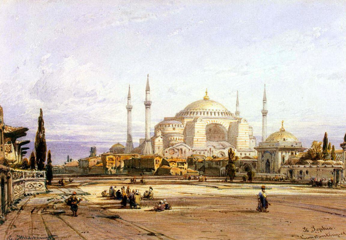 Эдуард Хильдебрандт. Храм Святой Софии в Константинополе. XIX век