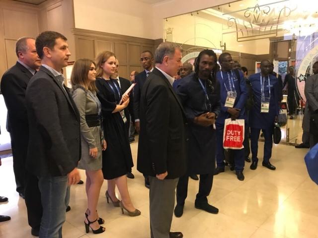 В Калуге устроили торжественную встречу футбольной сборной Сенегала