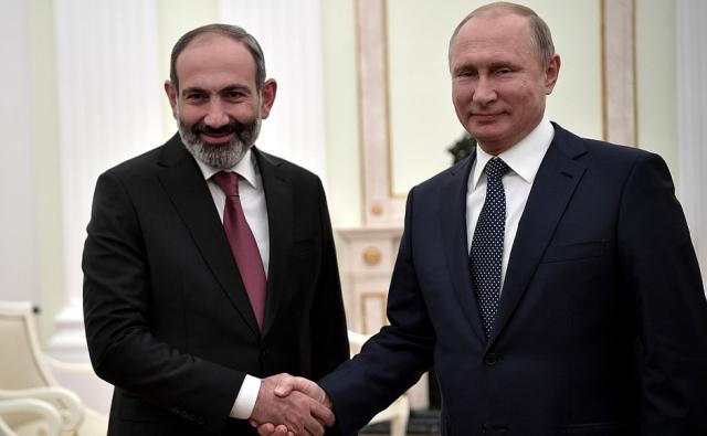Путин – Пашиняну: Россия номер один в торговом обороте с Арменией