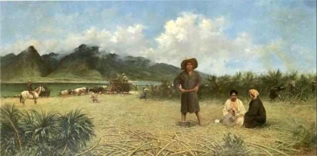 Джозеф  Стронг. Японские рабочие на плантации сахарного тростника. 1885