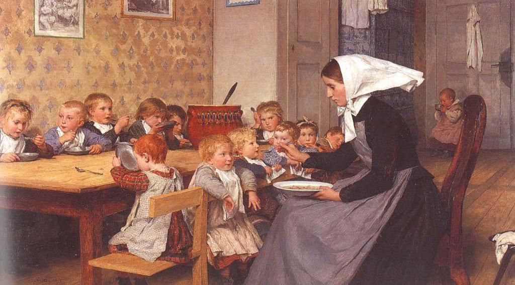 Альберт Анкер. Детский сад. 1874