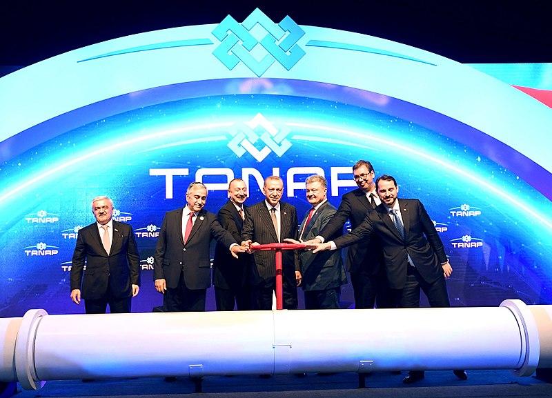 На церемонии открытия проекта TANAP в турецком Эскишехире. 12 июня 2018 года