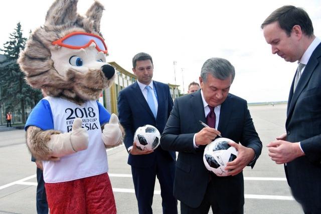Президент Узбекистана прилетел в Москву на открытие ЧМ-2018