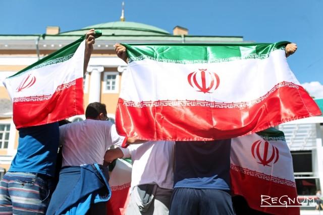 Иранские болельщики в фан-зоне