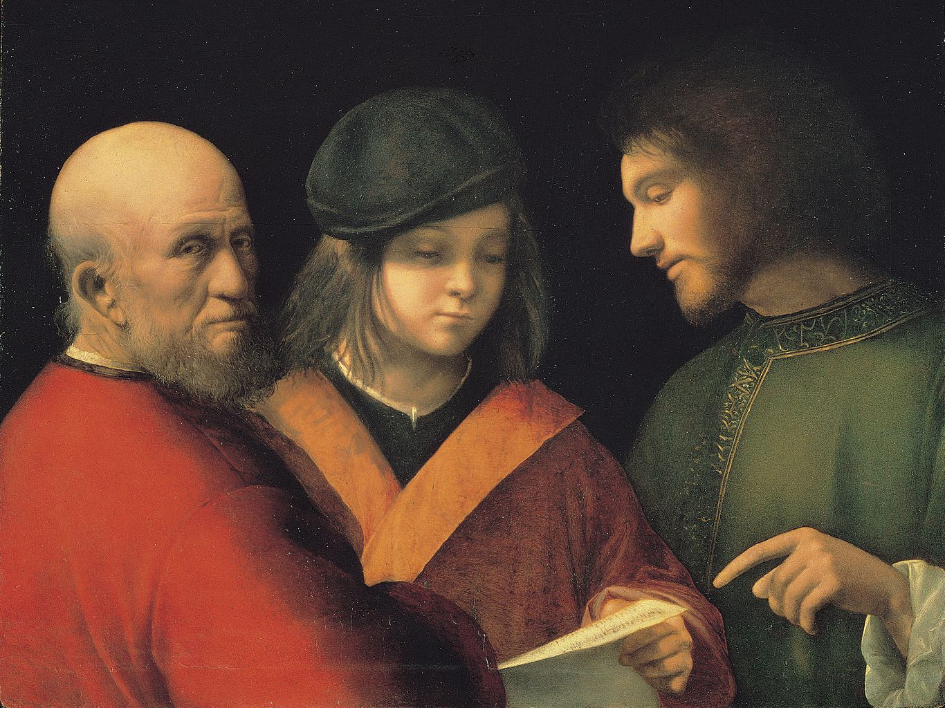 Джорджоне. Три возраста человека. 1510