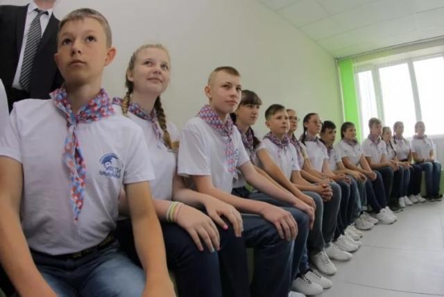 Дети в лагере «Ласпи»
