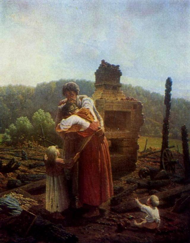 Алексей Протопопов. Погорельцы. 1883