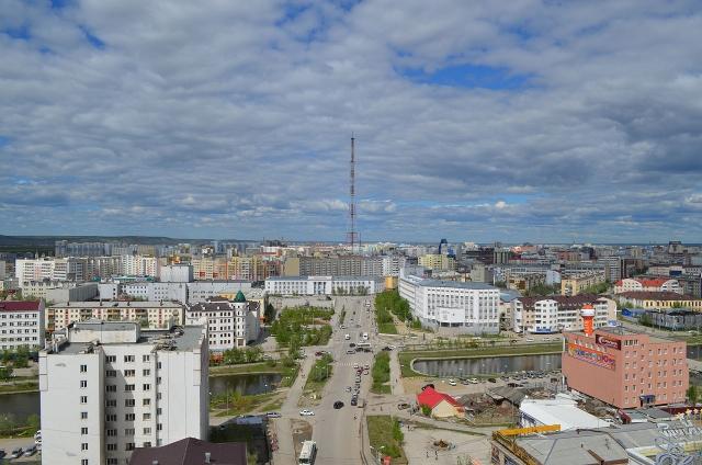 Якутск. Вид на проспект Ленина