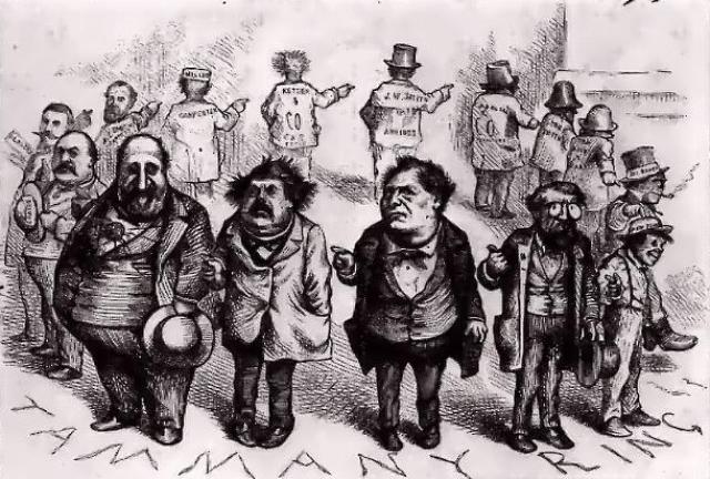 Круговая порука. Карикатура 1871 года