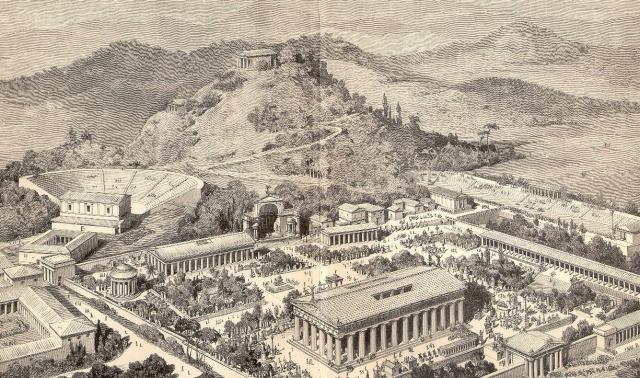 Древнегреческая Олимпия. Иллюстрация 1891 года