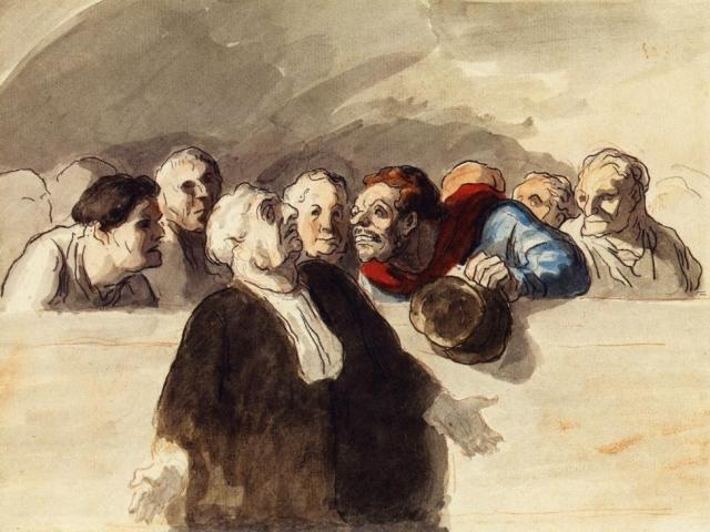 Оноре Домье. Адвокат защиты. 1856