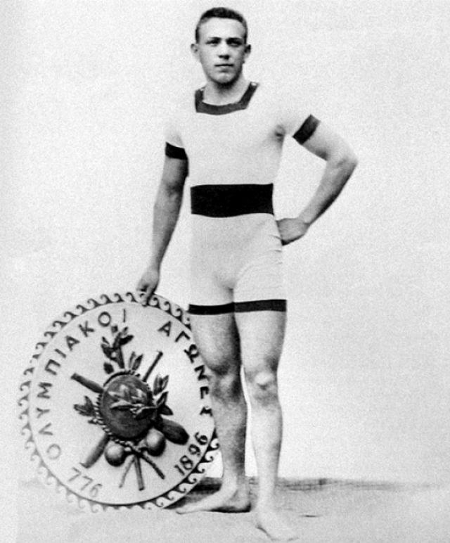 Пловец Альфред Хайош, двукратный чемпион Олимпийских игр 1896 года на дистанциях 100 и 1200 м вольным стилем