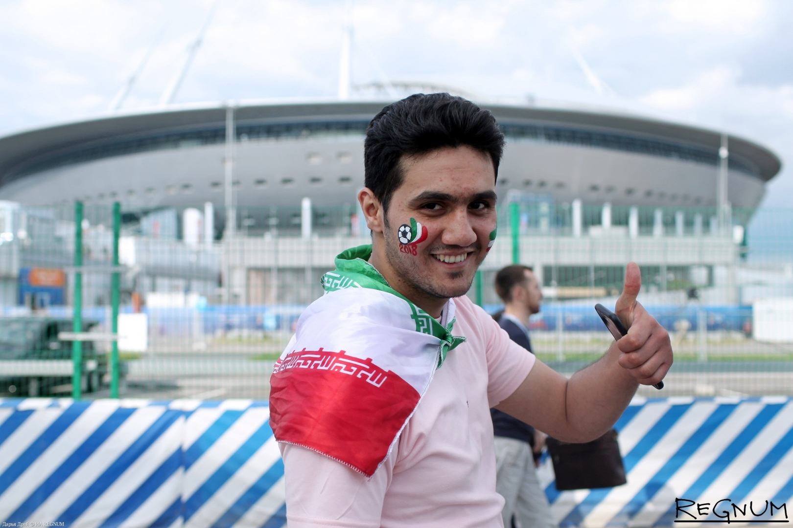 Болельщик сборной Ирана перед матчем в Петербурге
