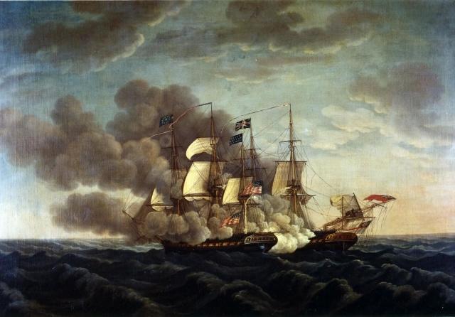 Мишель Фелис Корн. Битва «Конститьюшн» с «Герьером». 1812