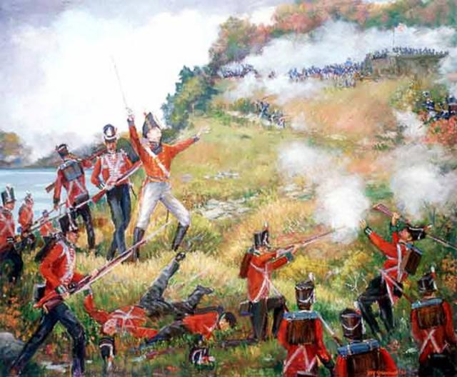 Генерал Брок возглавляет атаку