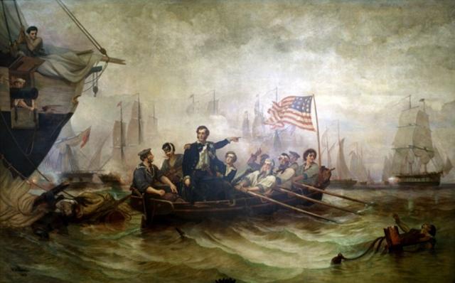 Уильям Генри Пауэлл. Американский командудщий Оливер Хазард Перри побеждает англичан в битве на озере Эри. 1873