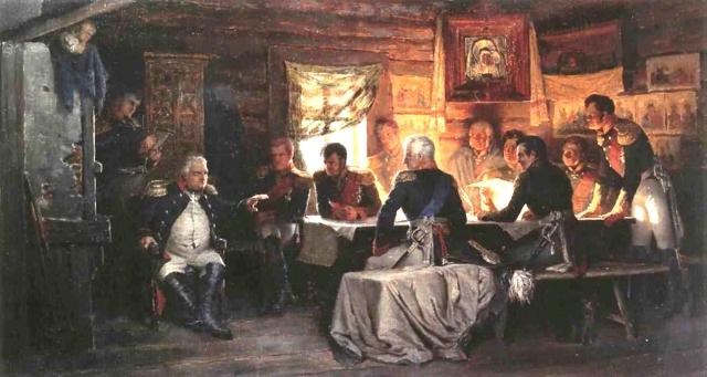 Алексей Кившенко. Военный совет в Филях в 1812 году. 1882