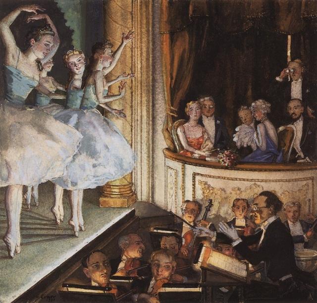 Константин Сомов. Русский балет. 1930