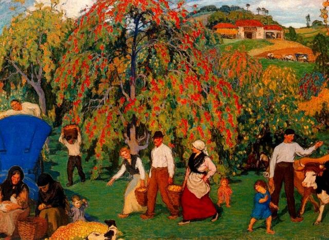 Никанор Пицоле. Сбор яблок. 1922 г