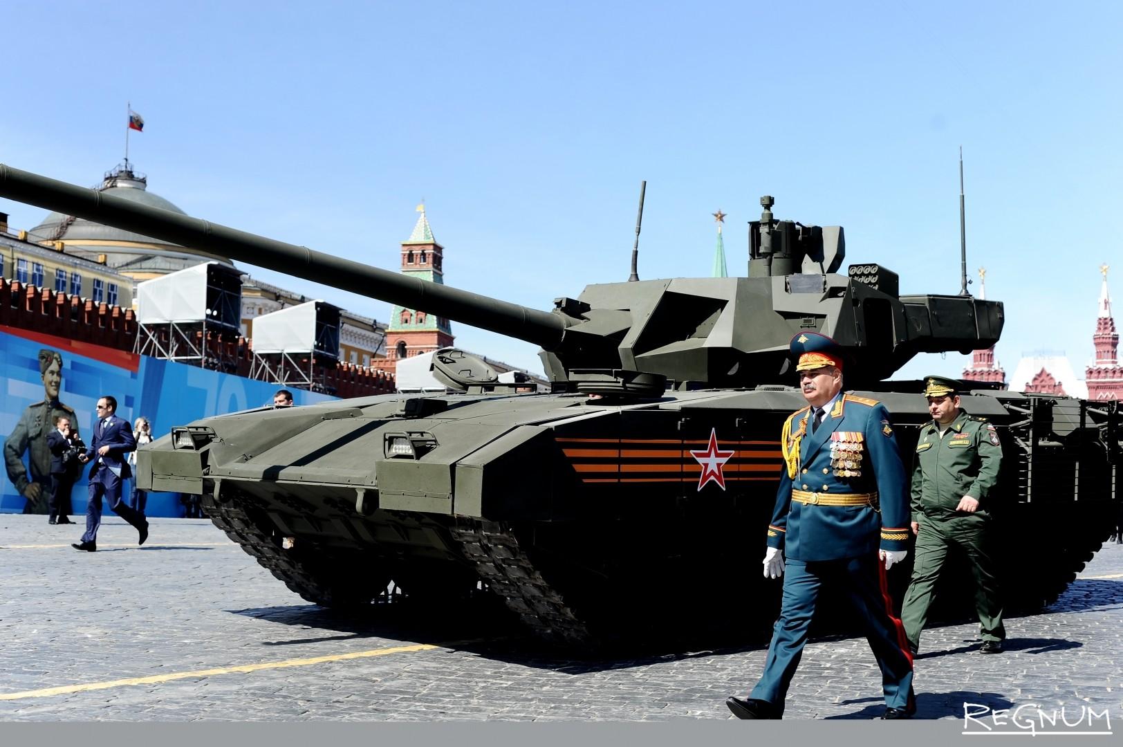 Танк «Армата» на Параде Победы на Красной площади. 9 мая 2015 года