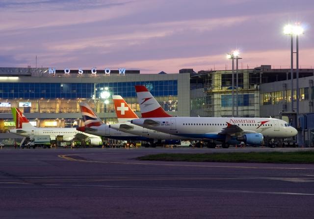 Перрон международного аэропорта Домодедово