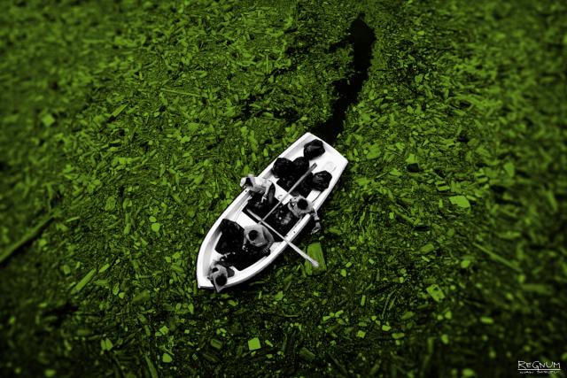 Лодка. Мусор. Экология