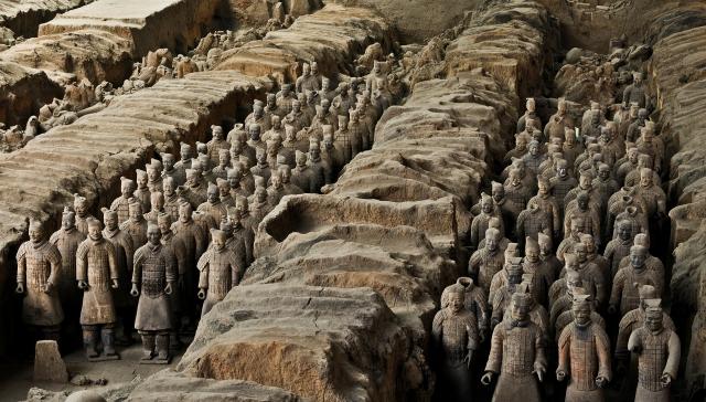 Терракотовая армия Цинь Шихуанди. Сиань, Китай
