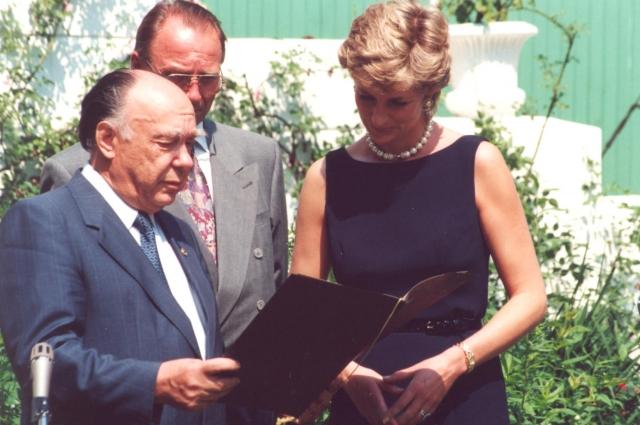 Александр Яковлев и принцесса Диана