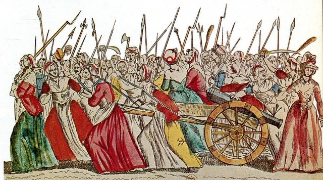 Революционно настроенные парижанки идут на Версаль