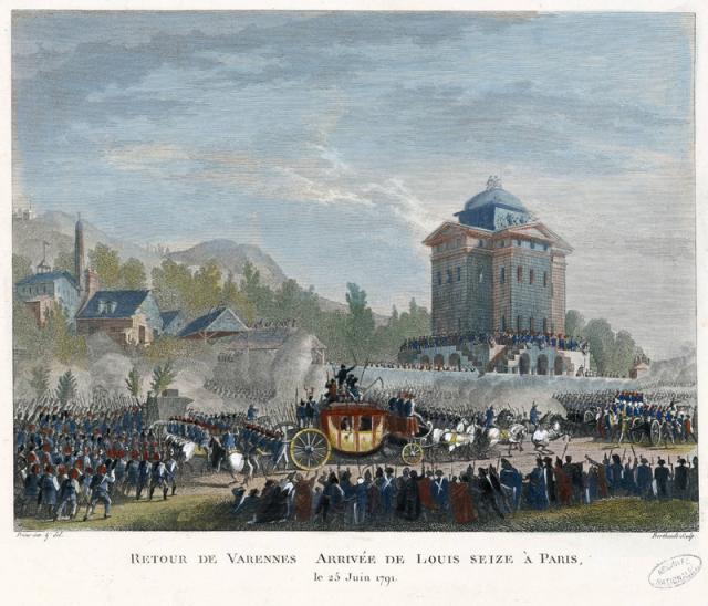 Возвращение королевской семьи в Париж 25 июня 1791 года