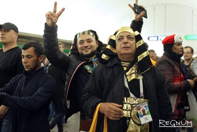 Египетские болельщики перед матчем