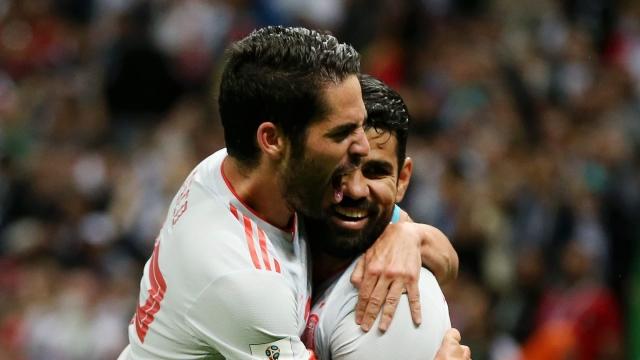Испанцы всё-таки вышли вперёд в матче с Ираном