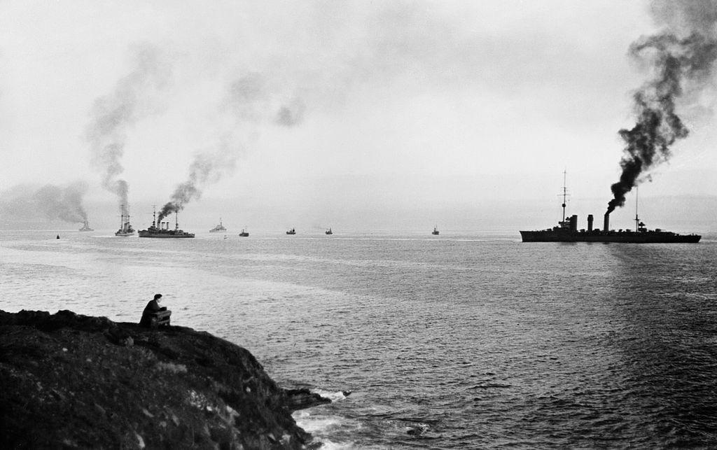 Германские корабли идут в Скапа-Флоу