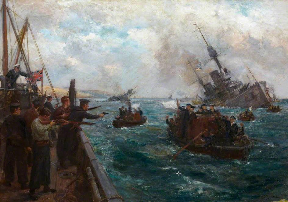 Бернард Гриббл. Затопление германского флота в Скапа-Флоу