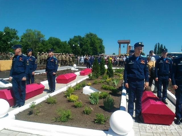Под Воронежем перезахоронили останки 165 советских воинов