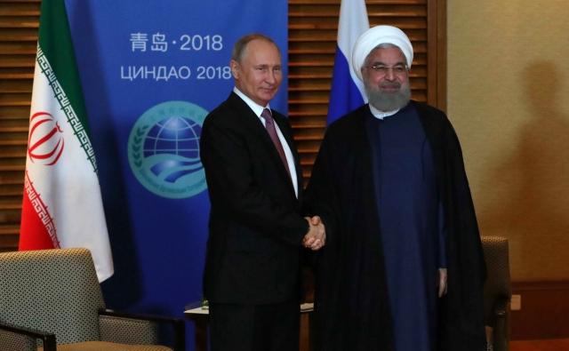 Встреча Владимира Путина с Хасаном Рухани. Саммит ШОС. 8 − 10 июня 2018 года, Циндао