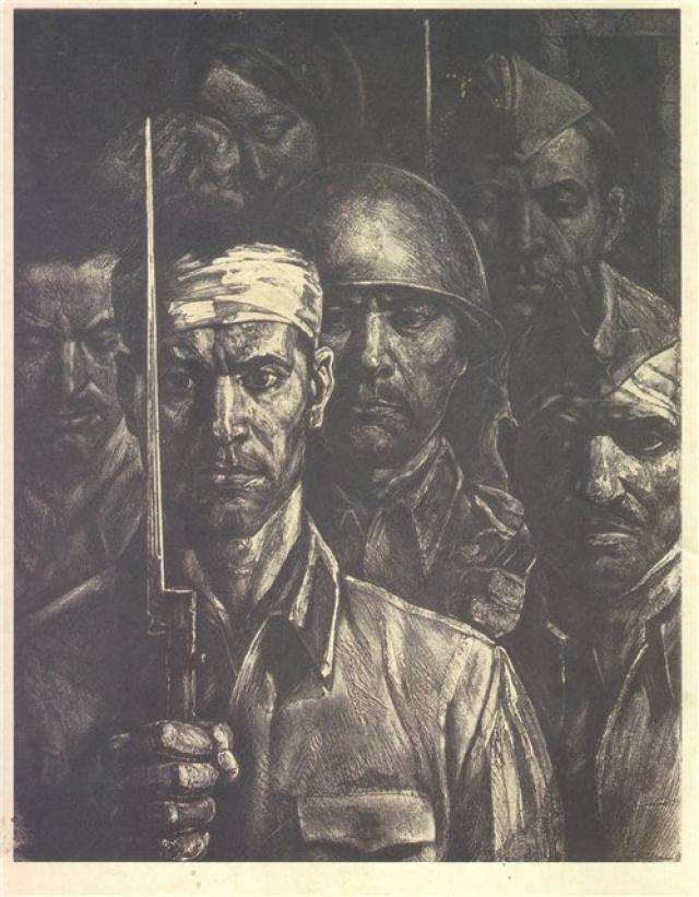 Триптих П.С. Дурчина Солдаты Бреста, 1983-85 гг. 1. Защитники Цитадели (центральная часть)