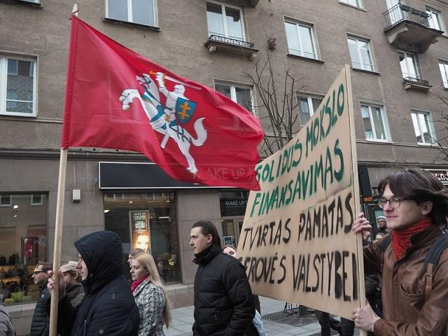 Вильнюс. Протестующие