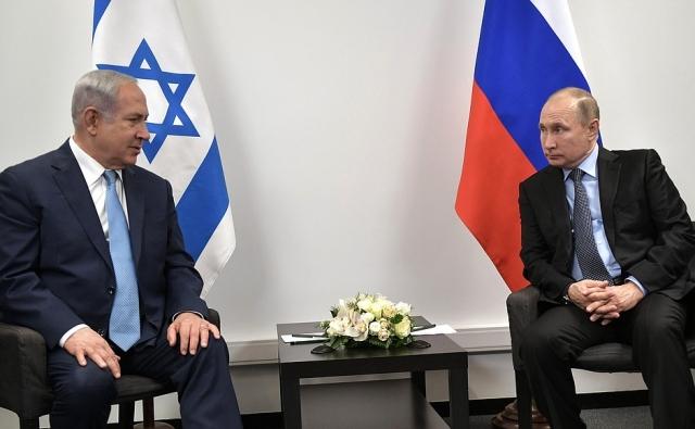 Биньямин Нетаньяху и Владимир Путин. Переговоры