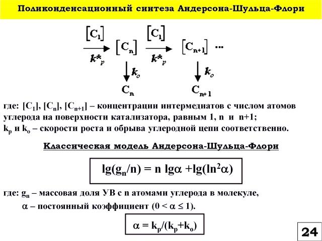 Рис. 24. Поликонденсационный синтеза Андерсона-Шульца-Флори